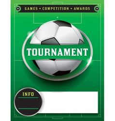 Soccer tournament template vector