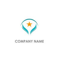 star pride abstract company logo vector image