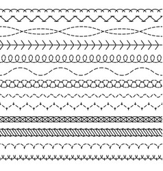 stitch lines stitched seamless pattern threading vector image