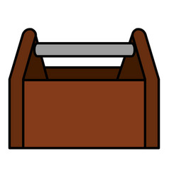toolbox construction empty isolated icon vector image