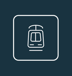 Tramway icon line symbol premium quality isolated vector