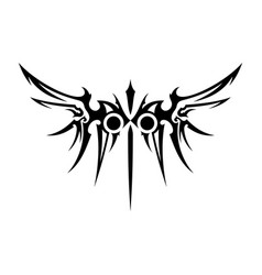 tribal wings vector image