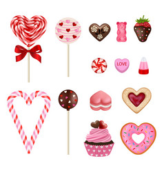 valentine sweets vector image