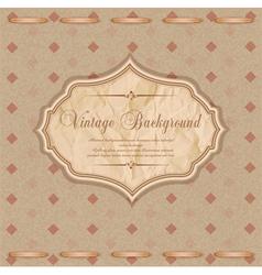 vintage congratulatory background vector image