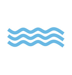 wave icon in trendy flat style isolated on white vector image