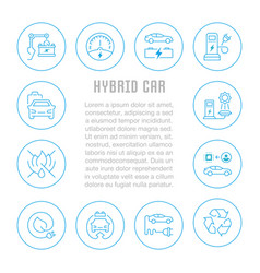 website banner and landing page hybrid car vector image