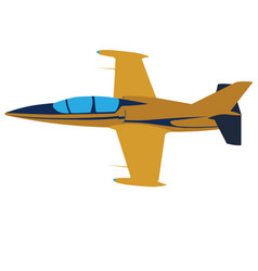 Yellow plane on a white background sports jet vector
