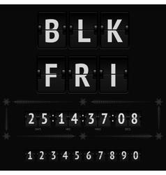 Black friday countdown timer vector image vector image