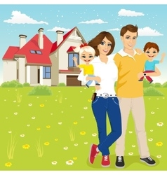 family with mother father son and daugther vector image vector image