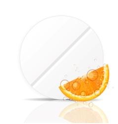 Orange pill iconEnvironment background vector image vector image