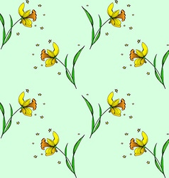 Seamless Daffodil pattern vector image