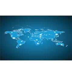 World Map - Global Connection vector image