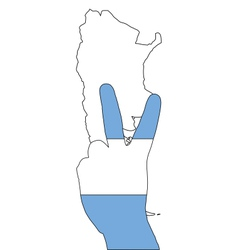 Argentinian finger signal vector image vector image