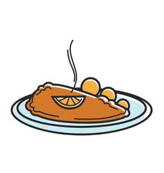 austria wiener schnitzel cutlet austrian tourism vector image