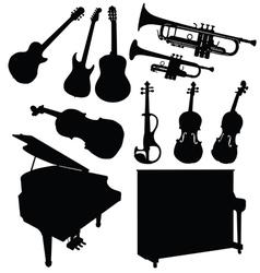 music instrument black vector image
