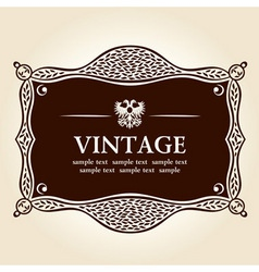 vintage frame vector background vector image vector image