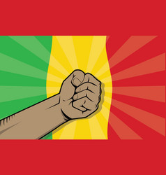 Mali africa country fight protest symbol with vector