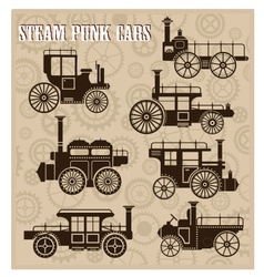 Steam-punk cars vector image