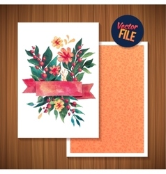 Beautiful Floral Greeting Card Bright vector image