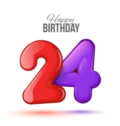 birthday Greeting card with numbers vector image