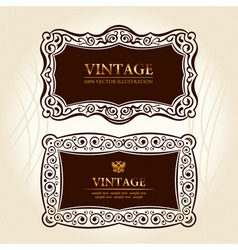 vintage frames labels vector decor vector image vector image
