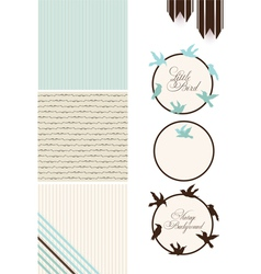 Vintage Pattern frames and cute seamless vector image vector image