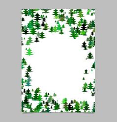 abstract random seasonal pine tree design vector image