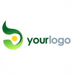 Abstract round eco logo vector
