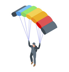 Adrenaline parachuter icon isometric style vector