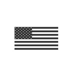 american flag icon isolated flag usa flat vector image