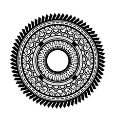 Ancient greek round mandala art wheels vector
