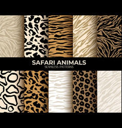 Animal fur print seamless patterns seamless vector