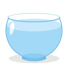 Aquarium with water Transparent glass tank for vector image