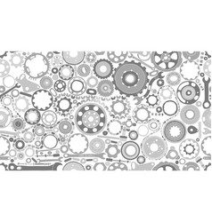 Auto spare parts and gears seamless pattern for vector