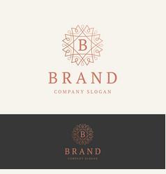 b brand logo vector image