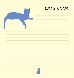 blank for records with cat sheet for records vector image