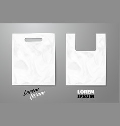 Blank white realistic plastic bag vector