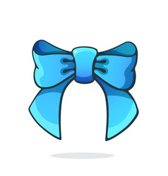 Blue bowknot ribbon hair accessory for girls vector