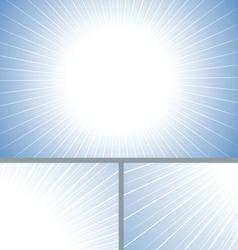 Blue clean sun burst background vector image
