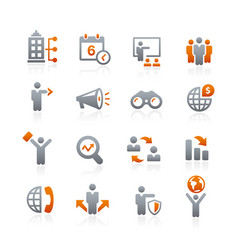 business opportunities icons - graphite series vector image