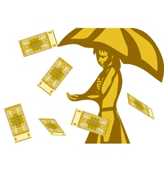 business rain happy vector image