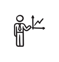 Business report sketch icon vector