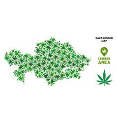 cannabis composition kazakhstan map vector image