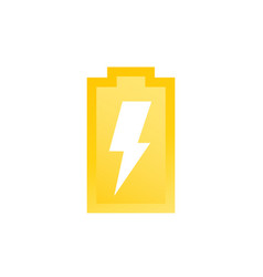 Charging battery icon vector