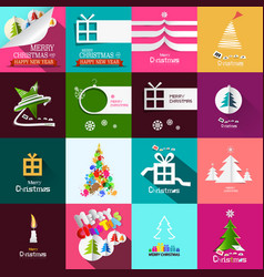 christmas cards design set xmas backgrounds vector image