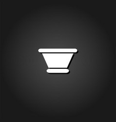 clay pot icon flat vector image