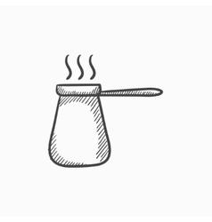 Coffee turk sketch icon vector