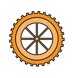 color sketch silhouette gear wheel component icon vector image