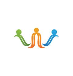 Community unity team logo vector