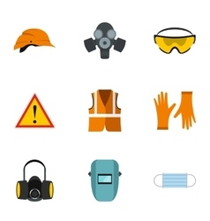 Construction ground icons set flat style vector